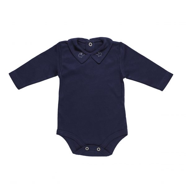 Newborn Long Sleeve Body n organic pima cotton with angel embroidery