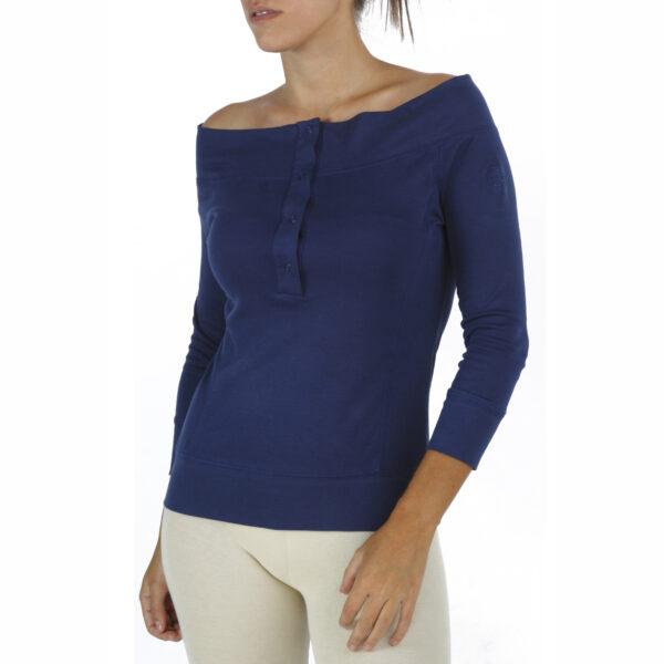3/4 Sleeve Top in Organic Pima cotton drop neck slowfashion fairfashion