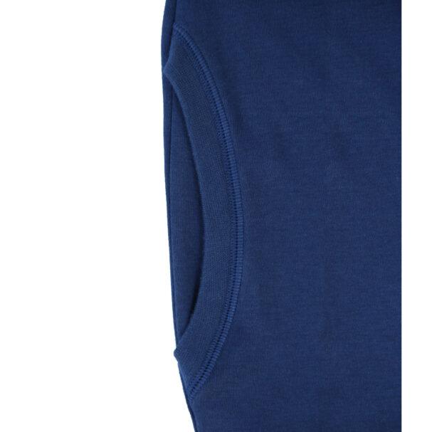 maxi blouse with 2 front pockets short sleeve organic pima cotton slowfashion