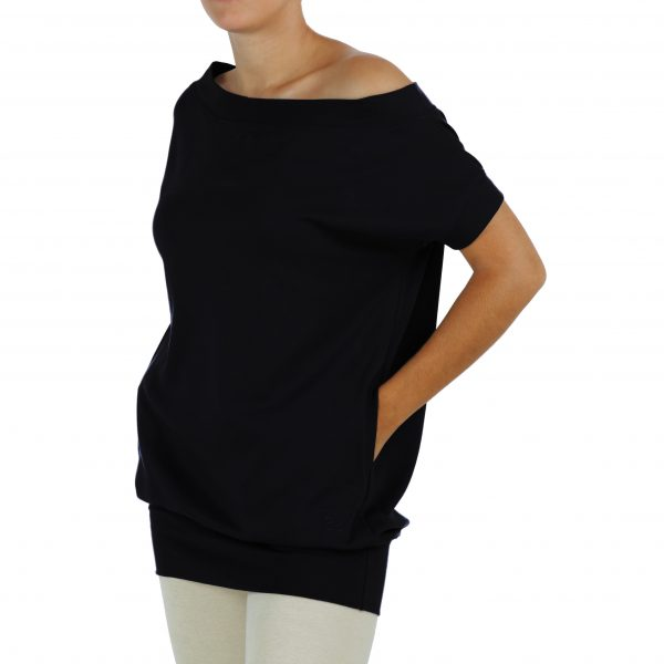 short-sleeve-blouse 2 pockets in organic pima cotton