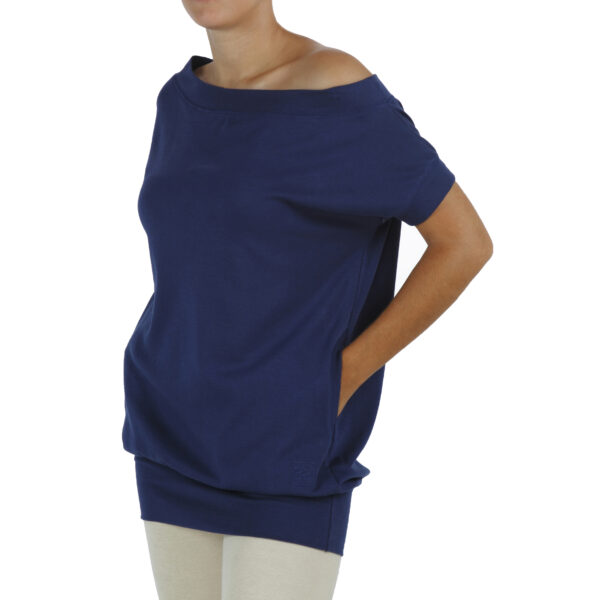 short-sleeve-blouse 2 pockets in organic pima cotton fairfashion slowfashion