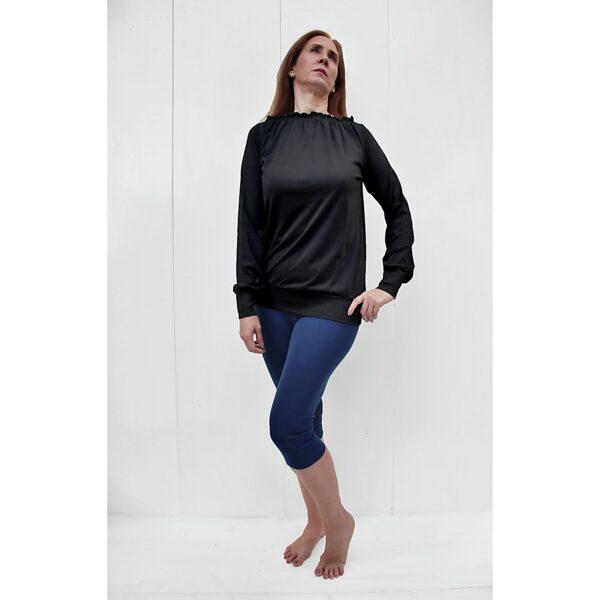 Long sleeve maxi blouse organic pima cotton slowfashion