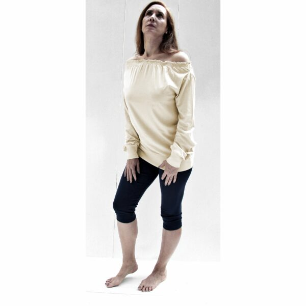 Long sleeve maxi blouse drop neck off shoulder organic pima cotton slowfashion fairfashionn fairfashioni blouse organic pima cotton slowfashion