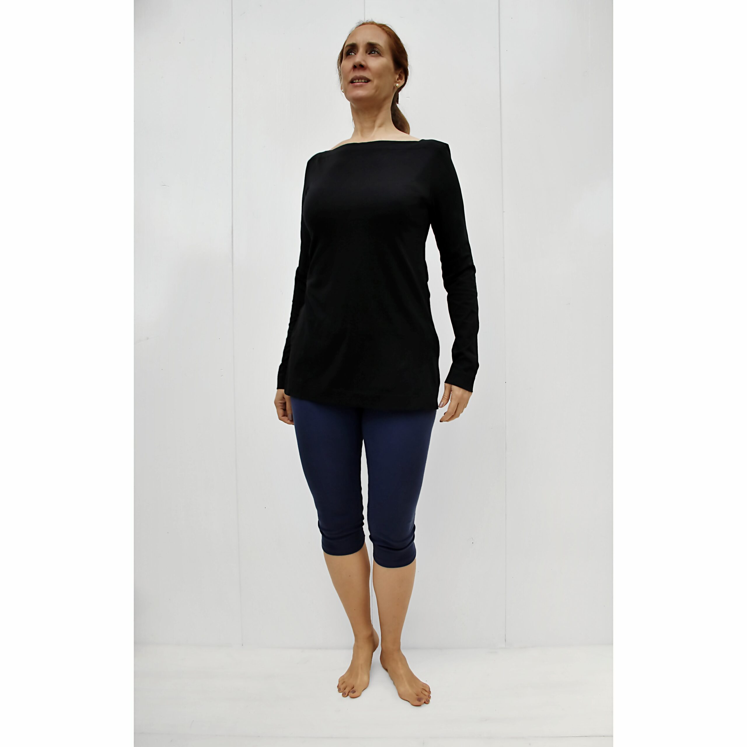 Long Sleeve Boat neck Top organic pima cotton slowfashion