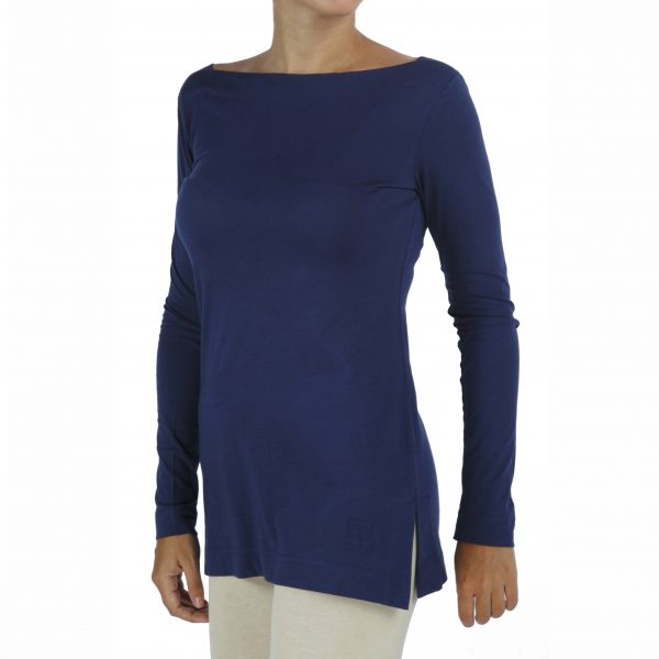 Boat Neck Top in Organic Pima Cotton
