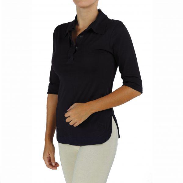 Women 3_4-sleeve-polo-shirt in organic pima cotton