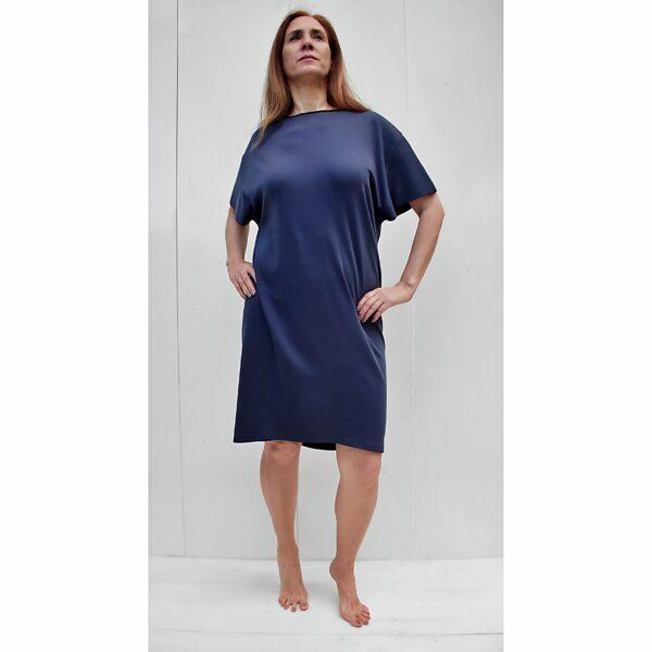 Short sleeve dress organic pima cotton slowfashion