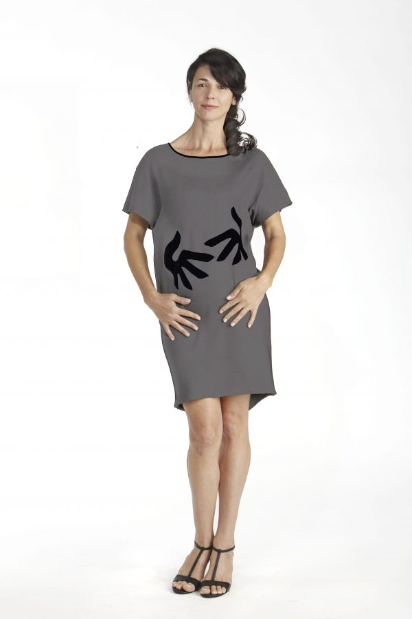 Hug Short Sleeve Dress in Organic Pima Cotton delivers the non verbal message of protection and security
