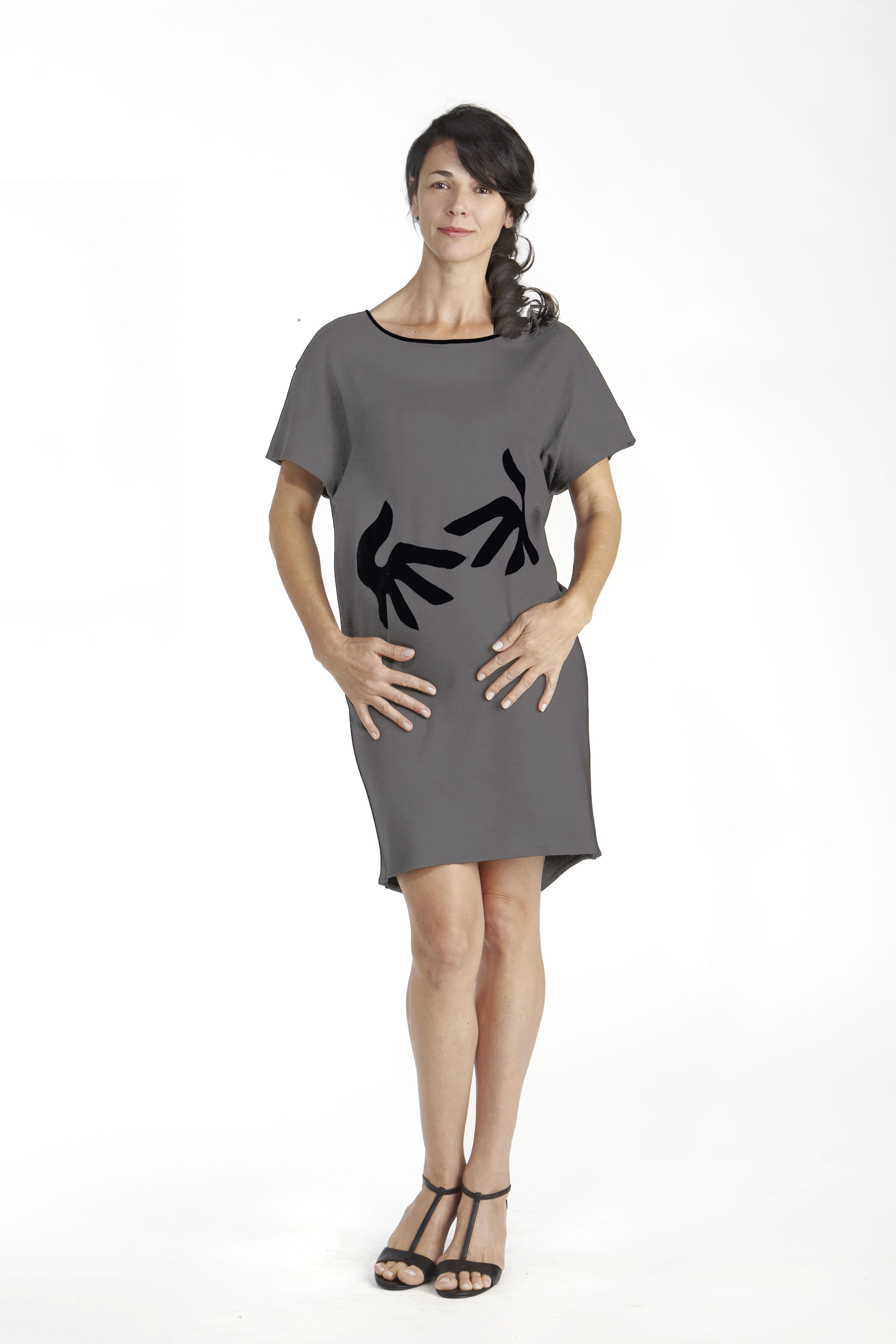 48b1f6c4bb65c Hug Short Sleeve Dress in Pima Cotton - B.e Quality, Responsible ...