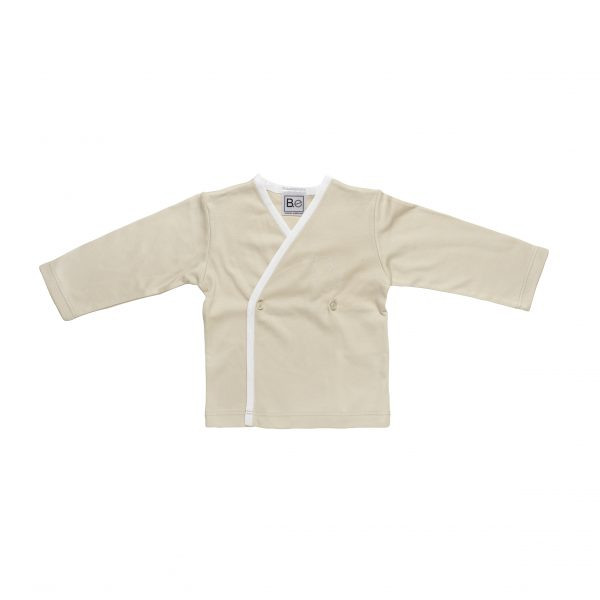 Newborn Long Sleeve T-Shirt in Organic Pima Cotton has an Angel embroidery in contrasting colour