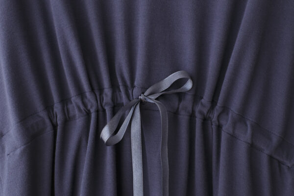 detail adjustable satin ribbon square dress