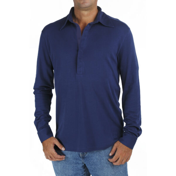 men-long-sleeve-polo-shirt-organic-pima-cotton slowfashion fairfashion quality