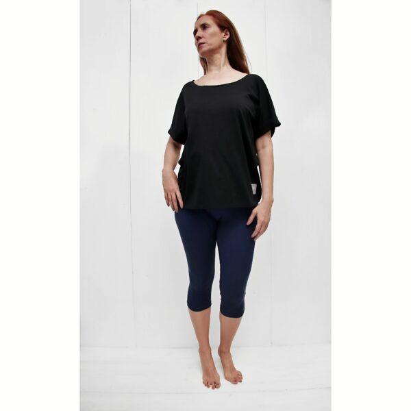 onesize short sleeve tshirt organic pima cotton BLACK