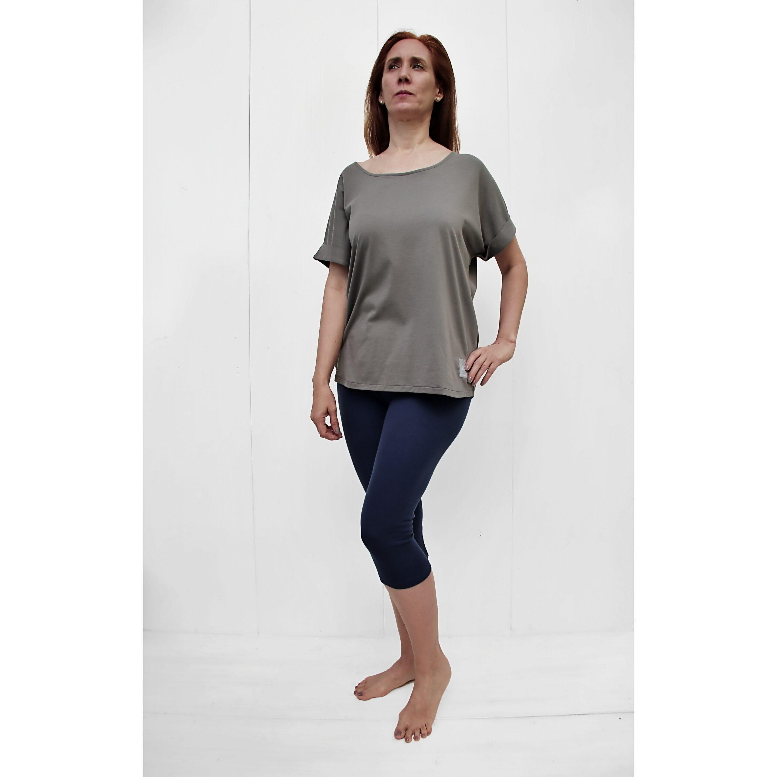 onesize short sleeve tshirt organic pima cotton grey TAUPE