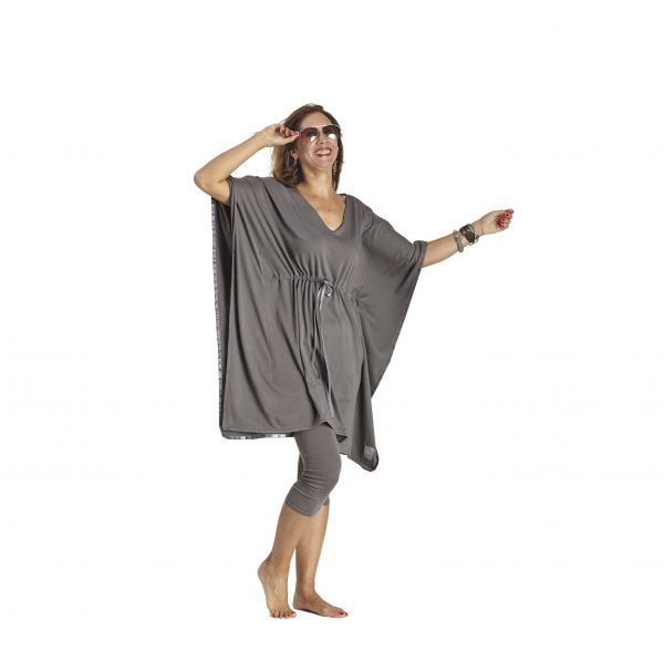 Adjustable tunic dress in organic pima cotton