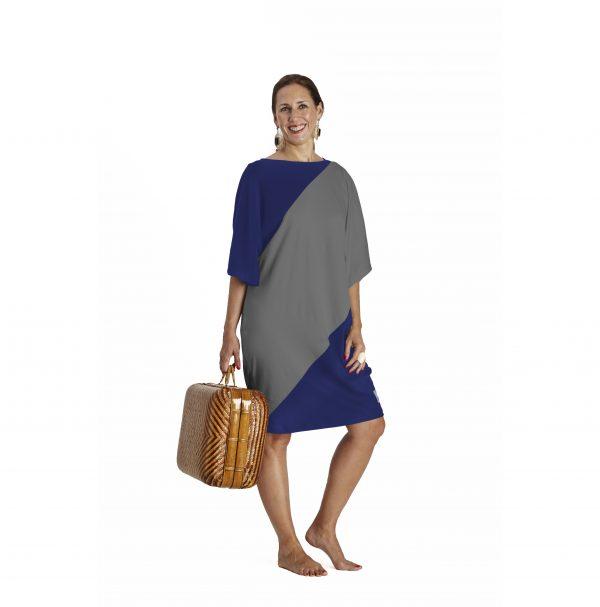 One Size Bicolour Dress in organic Pima Cotton