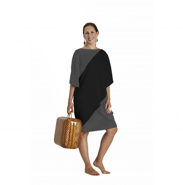 One Size Bicolour Dress in organic Pima Cotton