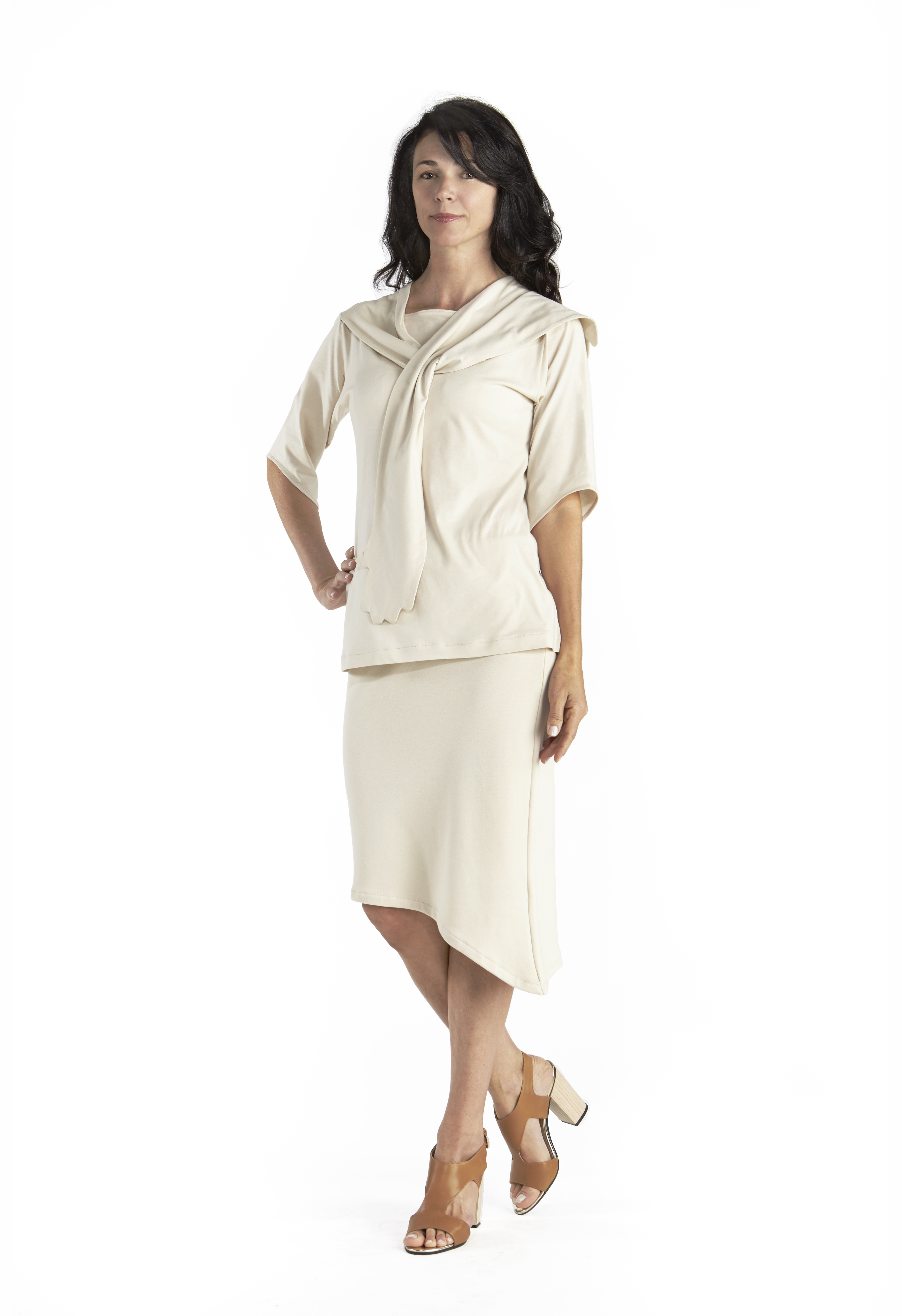 b29f63905cdf Diagonal Jersey Skirt in Pima Cotton - B.e Quality, Responsible ...