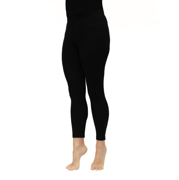 Long Leggins stretch pima organic cotton black
