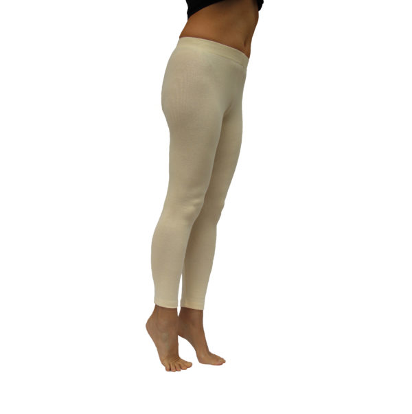 Long Leggins stretch pima organic cotton sand