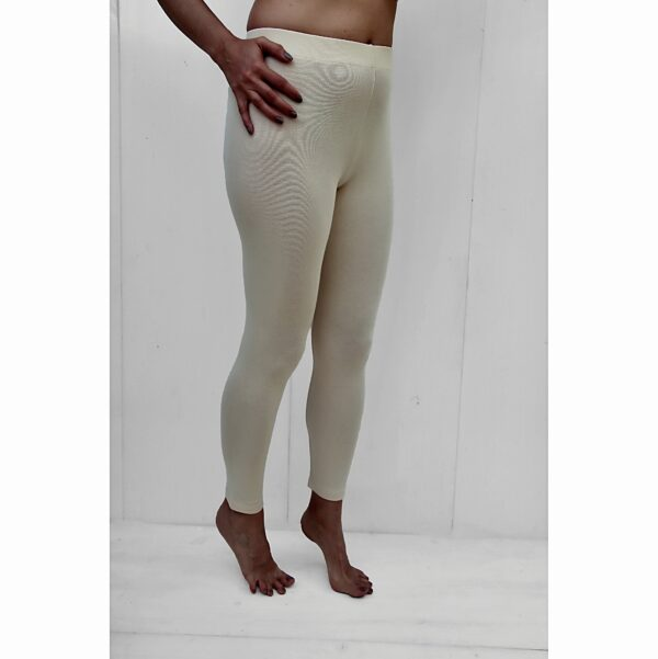 Stretch leggins organic pima cotton slowfashion sand