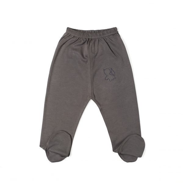 Newborn Pant with Foot in Organic Pima Cotton has an Angel embroidery