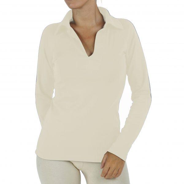 long-sleeve-polo-t-shirt organic pima cotton raglant sleeve