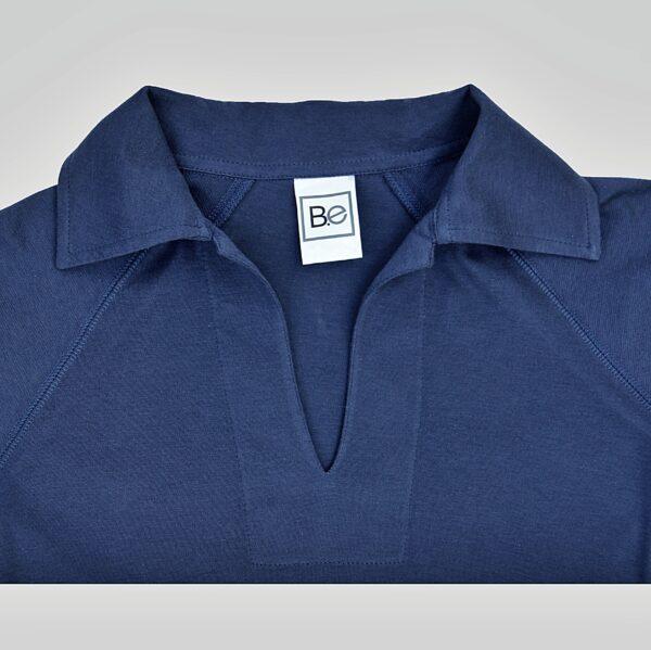 Polo neck refined basics slowfashion organic pima cotton
