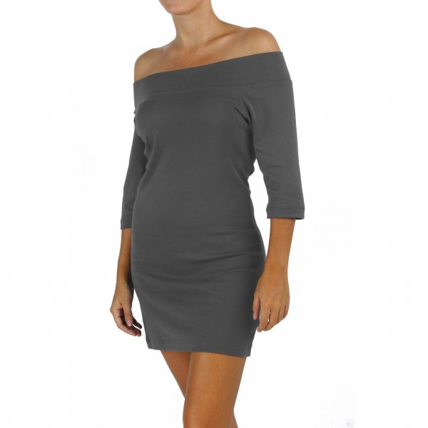 3/4 Sleeve Mini Dress or Maxi Top in Organic Pima Cotton