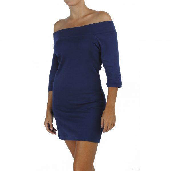 3/4 Sleeve Mini Dress or Maxi Top in Organic Pima Cotton