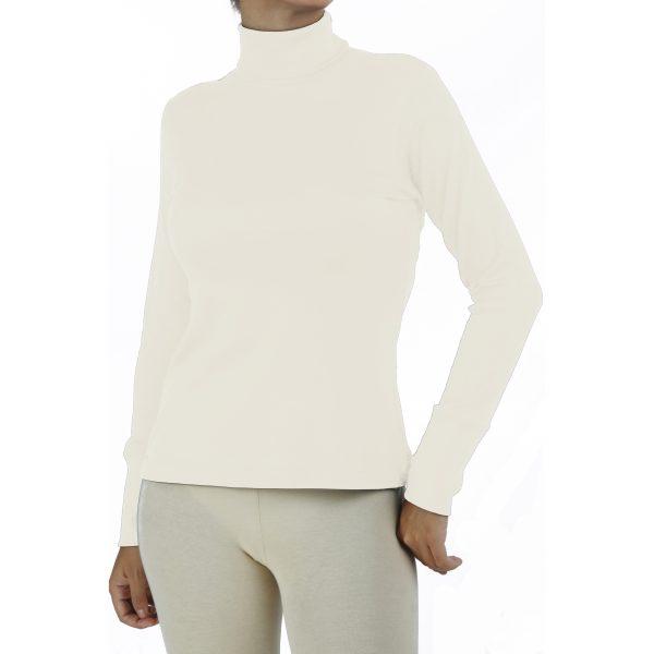long-sleeve-turtle-neck-t-shirt in organic pima cotton