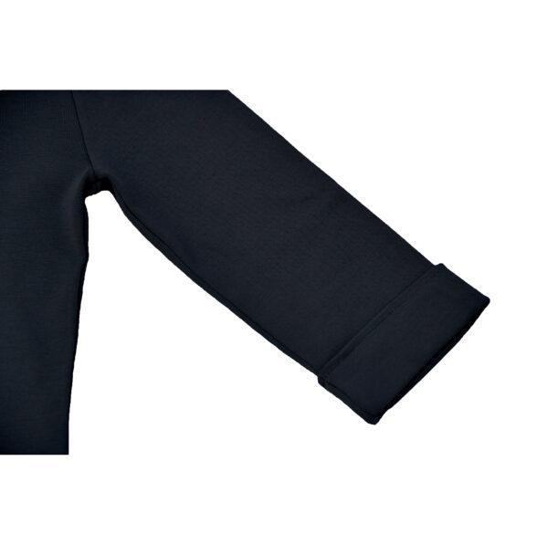 detail folded 3/4 sleeve stretch polo dress