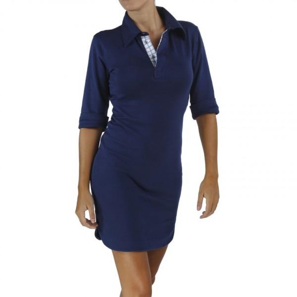 3-4-sleeve-polo-dress in organic pima cotton